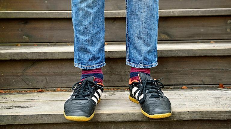 Barnens kläder känns ofta för små efter sommaren. Foto: Henrik Montgomery/TT