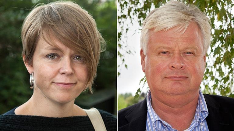 Katrin Stjernfeldt Jammeh (S), kommunstyrelsens ordförande i Malmö och Lars Ingvar Ljungman (M), ordförande i Skånemoderaterna. Foto: TT