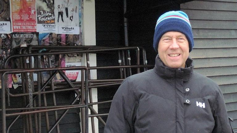 Bert Alfson i Helsingborg som drivit namninsamling för folkomröstning om Ångfärjetomten. Foto: Bosse Johansson/Sveriges Radio