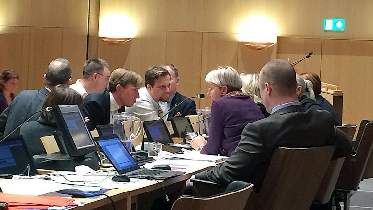 S och MP fick igenom sin budget i regionfullmäktige under tisdagen. Foto: Petra Haupt / Sveriges Radio.