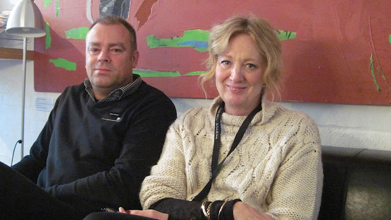 Kulturskolecheferna Göran Nilsson och Camilla Norberg.