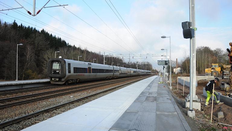 Under bygget av Tjörnarps tågstation. Foto: Höörs kommun