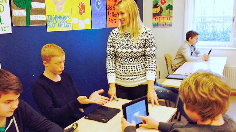 Monika Englund, lärare på Kjellebergsskolan i Eslöv. Foto: Madeleine Fritsch-Lärka/Sveriges Radio