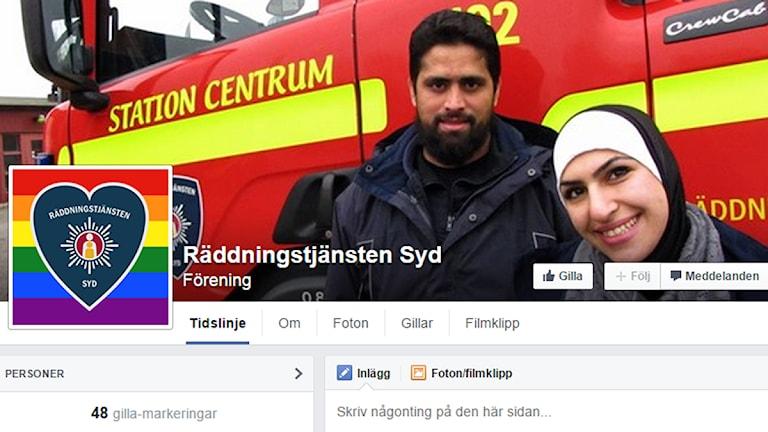 Räddningstjänsten Syd anmäler falsk Facebooksida.