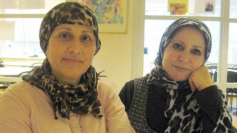 Neidhal Alwandi och Dhikra Al-Saffar Foto: Bosse Johansson/Sveriges Radio