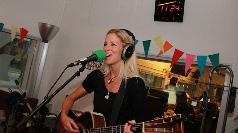 Nilla Nielsen i studion