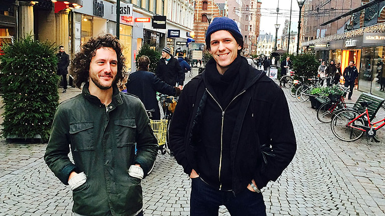 David Calgaro och Anton Tornkvist. Foto: Madeleine Fritsch-Lärka/Sveriges Radio