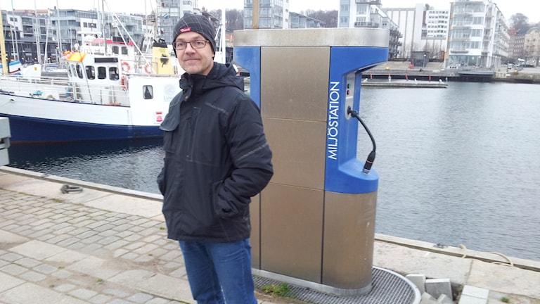 Hamnmästare Mikael Löfquist. Foto: Håkan Svensson