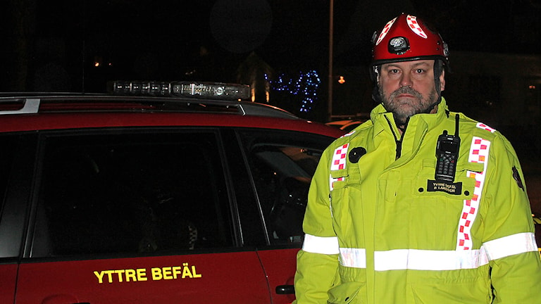 Roger Larsson, räddningsledare vid Sydöstra Skånes räddningstjänstförbund. Foto: Malin Thelin/Sveriges Radio