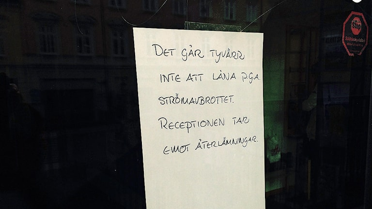 The public library in Lund was closed down, Photo: Anna Bubenko/Sveriges Radio