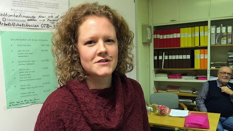 Lotta Cederberg-Gedik, ordförande för Lärarförbundet i Kävlinge. Foto: Anna Bubenko/Sveriges Radio