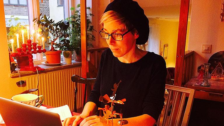 vMaja Lindén. Foto: Madeleine Fritsch-Lärka/Sveriges Radio