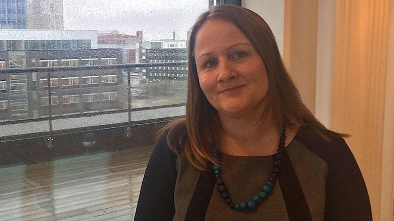 Anna-Lena Hogerud (s) ordförande hälso- och sjukvårdsnämnden. Foto: Alexander Zeilon Lund/Sveriges Radio