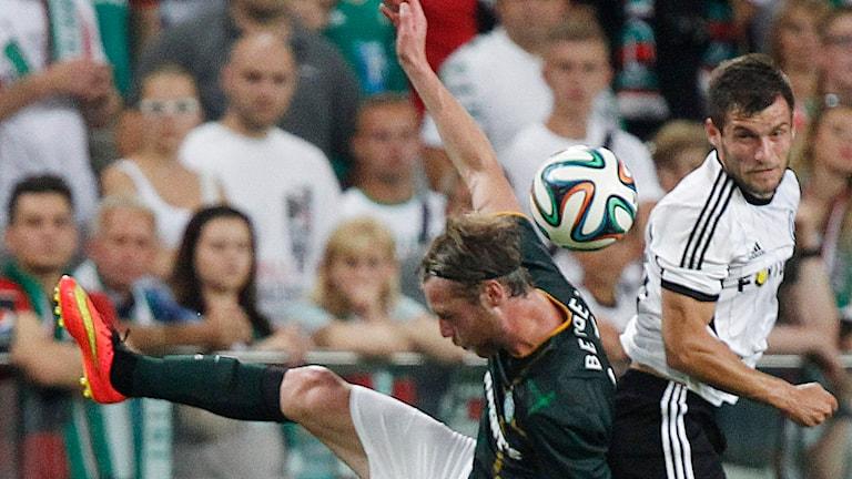 Malmö FF:s norska nyförvärv Jo Inge Berget, här i Champions League-kval för Celtic mot Legia Warszawa. Foto: Czarek Sokolowski/TT