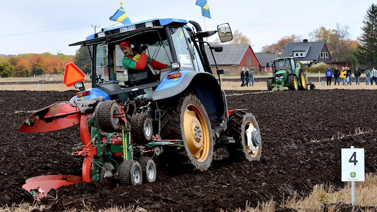 Plöjning, här under SM 2012 i Östra Ljungby. Foto: Johan Nilsson/TT