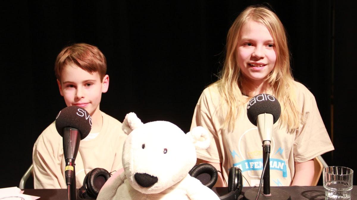 Deltagarna Jonathan och Björk från Djupadalsskolan i Limhamn.