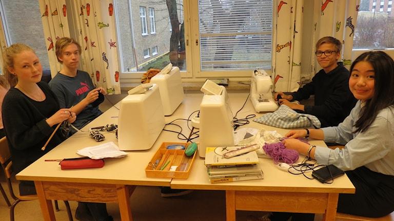 Eleverna i klass 9D på Bergaskolan i Malmö. Foto: Edina Hrustic/Sveriges Radio