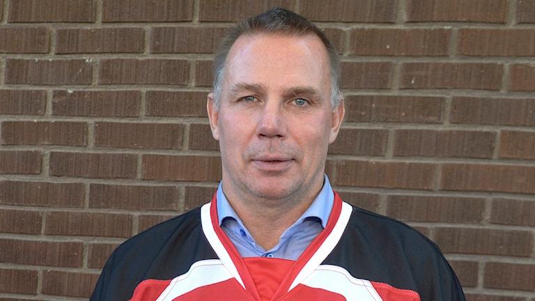 Mats Lusth, hockeytränare i Malmö Redhawks. Foto: Bertil Ericson/TT