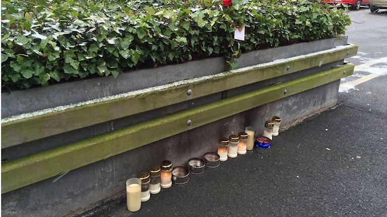 En man sköts ihjäl vid köpcentrumet Mobilia i lördags. Foto: Dimitri Lennartsson/Sveriges Radio.