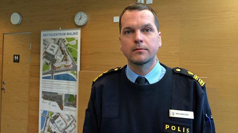 Mats Karlsson är biträdande chef för polisområde Malmö. Foto: Alexander Zeilon Lund/Sveriges Radio.