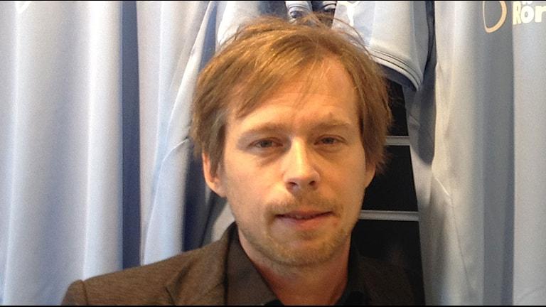 Peter Åhlander, kommunikationschef MFF. Foto: Julia Fryklund/Sveriges Radio