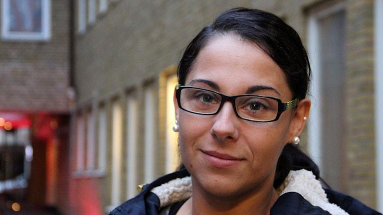 Jelena Mestrovic, Malmöbo som ryckte in som livräddade efter smitningsolycka i centrala Malmö. Foto: Hans Zillén/Sveriges Radio