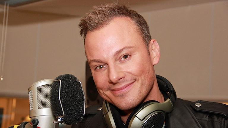 Magnus Carlsson tävlar i Melodifestivalen 2015 i Malmö med låten Möt mig i Gamla Stan. Foto: Hans Zillén/Sveriges Radio