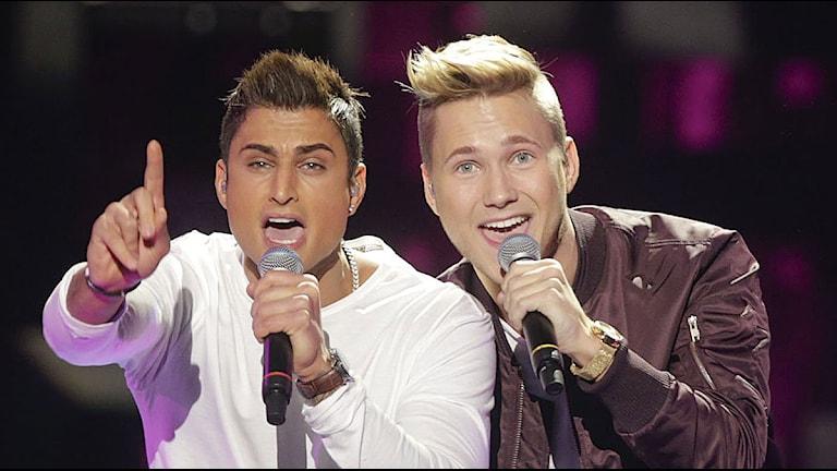 Samir och Viktor. Foto: Ola Torkelsson/TT