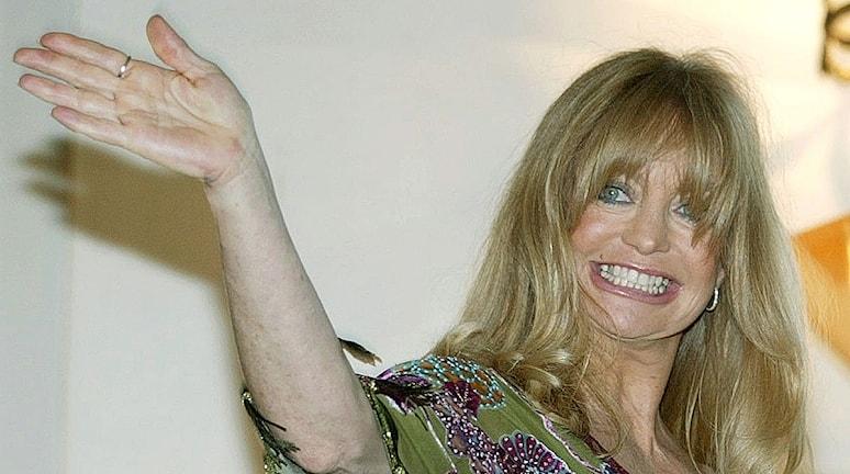Goldie Hawn lanserade filmen Groupies Forever 2003. Foto: Christof Stache/TT
