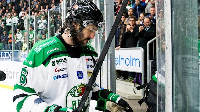 Rögles kapten, NHL-veteranen Andreas Lilja. Foto: Andreas Hillergren/TT
