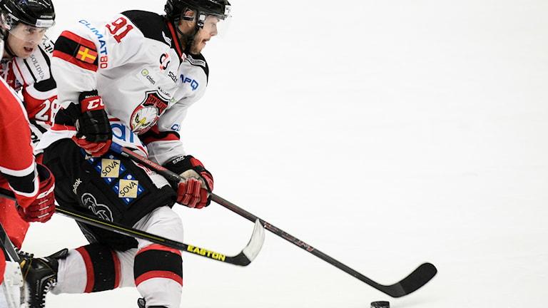 Björn Svensson, hockeyspelare i Malmö Redhawks. Foto: Pavel Koubek/TT