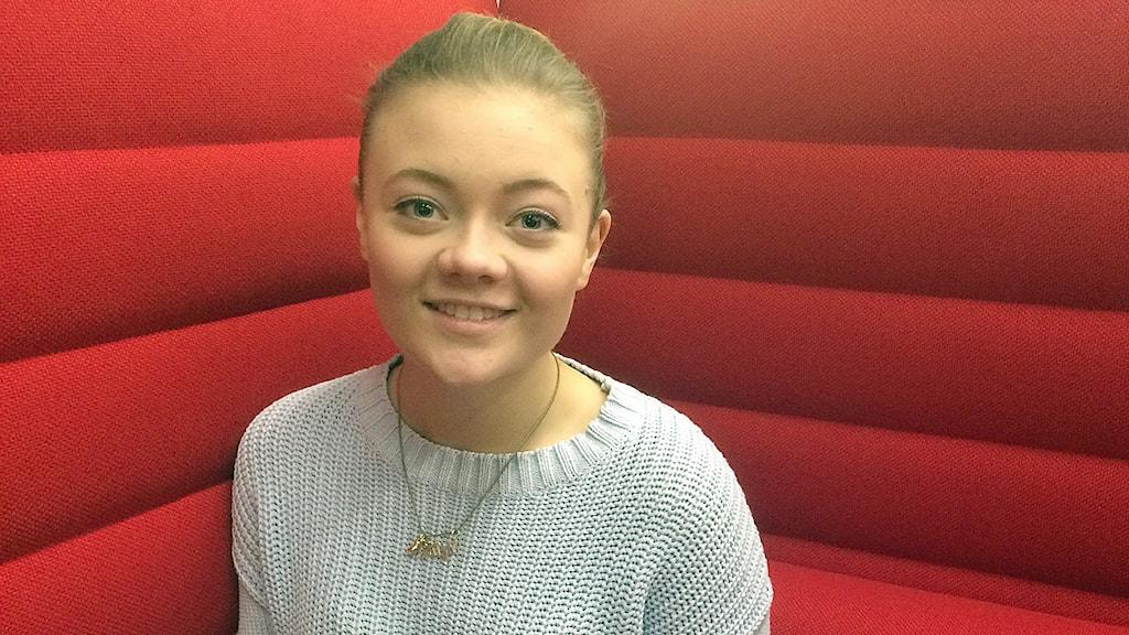 Katja Holböll i Malmö är med i styrelsen för Sveriges elevkårer. Foto: Dimitri Lennartsson/Sveriges Radio
