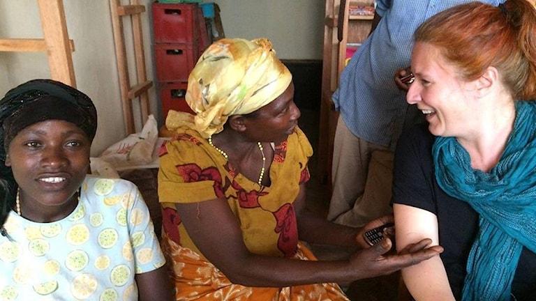 Kvinnor i Rwanda. Madeleine Fritsch-Lärka. Foto: Privat Madeleine Fritsch