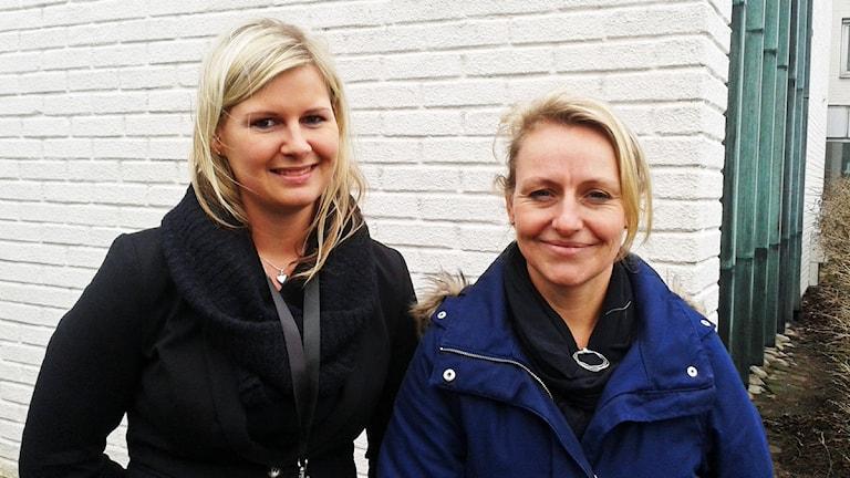 Jenny Rasmussen och Milli Lembke. Foto: Bosse Johansson/Sveriges Radio.