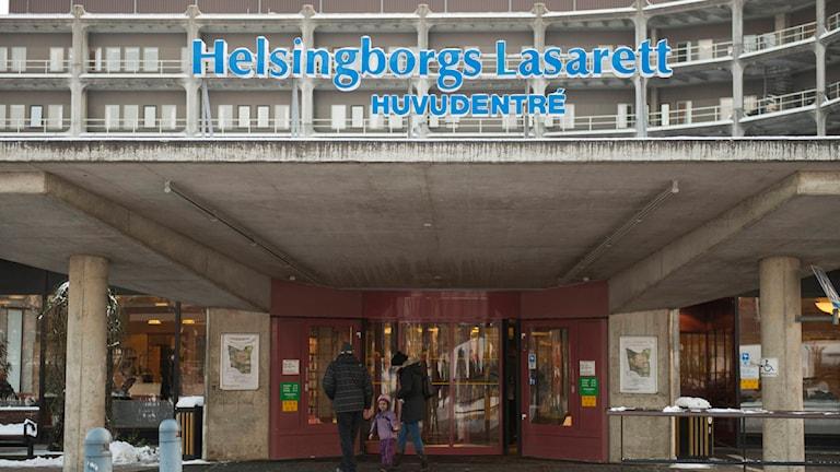 Entré Helsingborgs lasarett. Foto: Jan Emanuelsson/TT