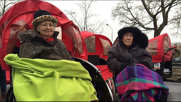 Eva Bülow och Majken Teander. Foto: Lina Sundahl Djerf/Sveriges Radio