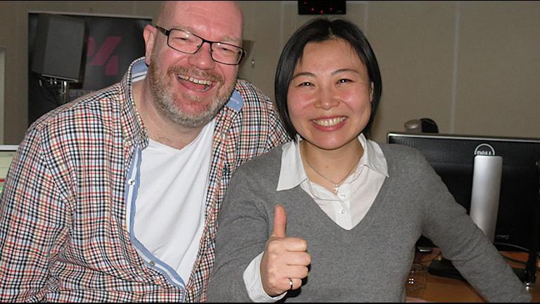 Magnus Andersson och Shu Liang. Foto: Lars Ekman/Sveriges Radio