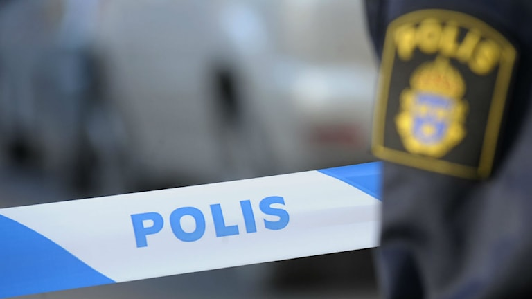 Polisens avspärrning vid en brottsplats. Foto: Fredrik Sandberg/TT