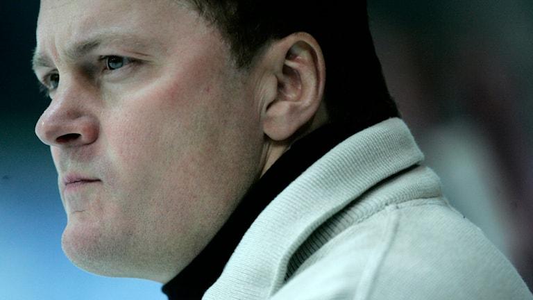 """Stephan """"Lillis"""" Lundh, tränare för hockeylaget Pantern. Foto: Björn Larsson Rosvall/TT"""