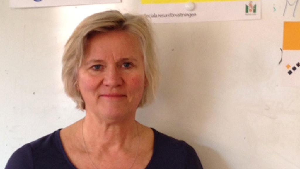 Annelie Larsson, chef för Sociala resursförvaltningen i Malmö. Foto: Sveriges Radio