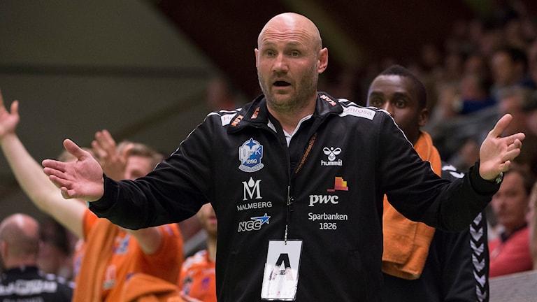 IFK Kristianstads handbollstränare Ola Lindgren. Foto: Jonas Ekströmer/TT