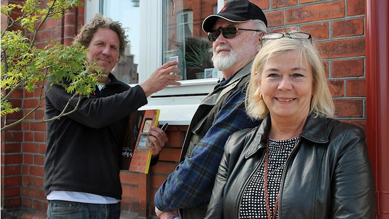 Klas Sundqvist, Lars Månsson och Ann-Charlotte Oredsson. Foto: Malin Thelin/Sveriges Radio
