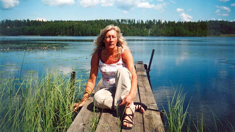 Marianne Stellin som tog emot Bosnienflyktingar i Trelleborg sommaren 1992. Foto: Privat