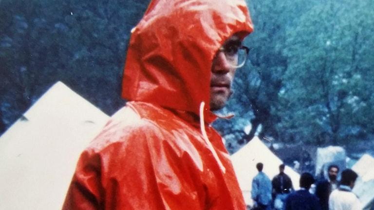 Under våren och sommaren 1993 var Magnus Rockler med i Räddningsverkets styrka som jobbade för UNHCR i framför allt Bosnien. Foto: Privat