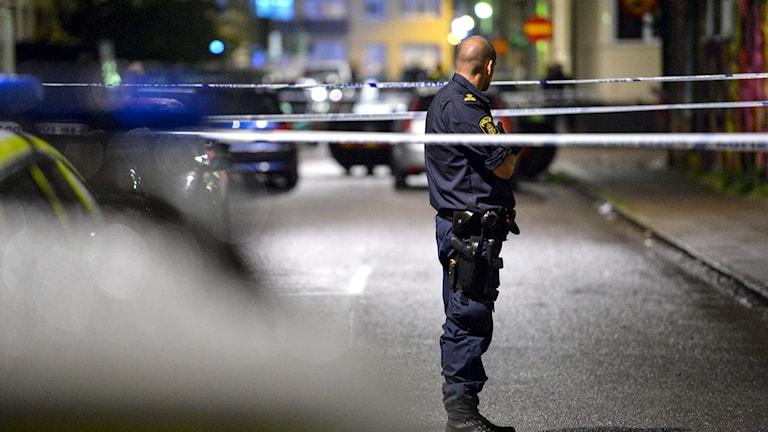 Arkivbild från en annan skjutning i Malmö.