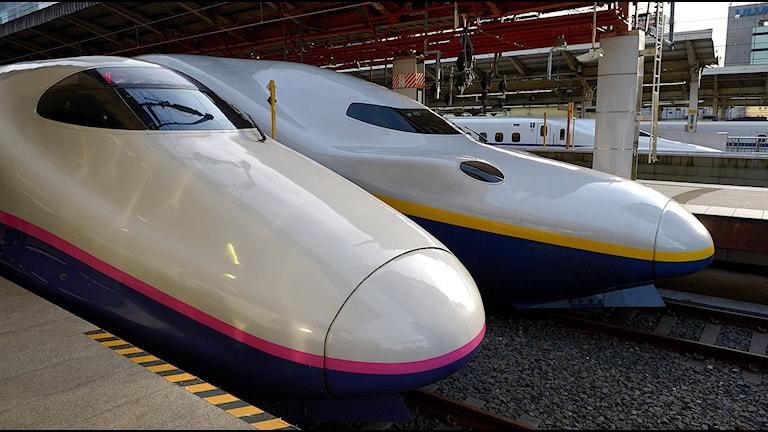 Höghastighetståget Shinkansen. Foto: Janerik Henriksson/TT