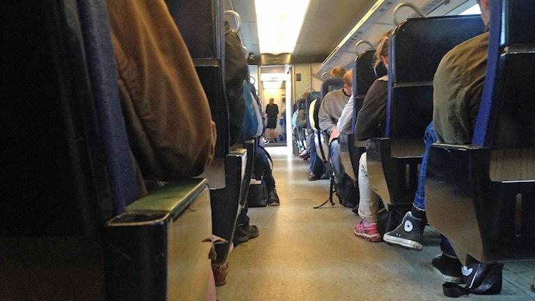 Gång i Öresundståg Foto: David Rasmusson/Sveriges Radio