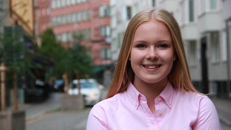Magda Andersson, trea i Sveriges Em-rallycrosstävling. Foto: Anna Dahlbeck/Sveriges Radio.