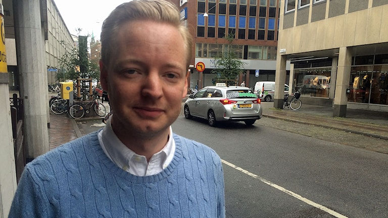 Torbjörn Tegnhammar moderat oppositionsråd i Malmö. Foto: Dimitri Lennartsson/Sveriges Radio