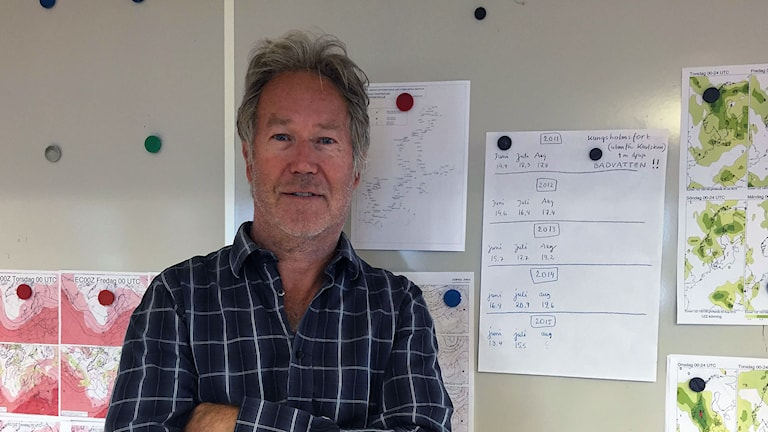 Meteorologen Mats Andersson. Foto: Miriam Riaie/Sveriges Radio
